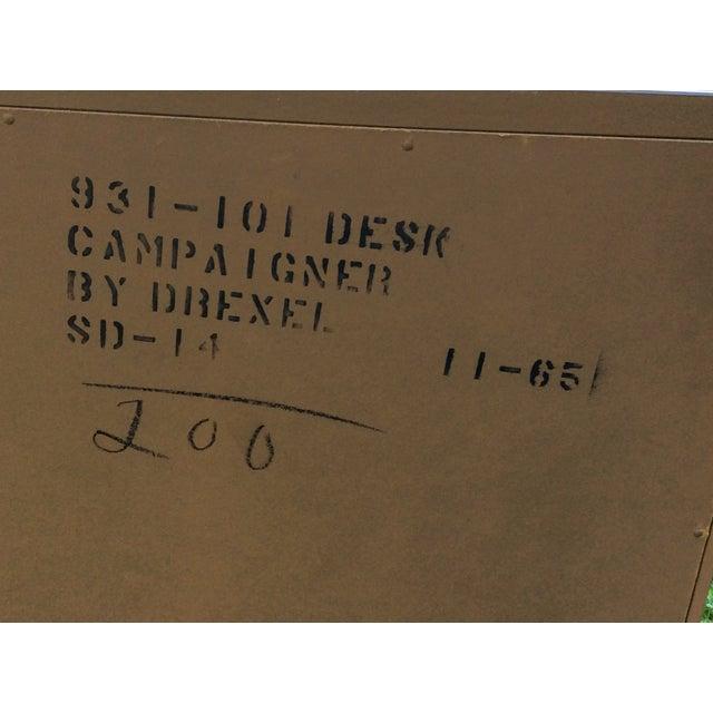 """1960's Drexel """"Campaigner"""" Desk - Image 5 of 8"""
