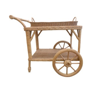 Smithsonian Collection Wicker Serving Cart