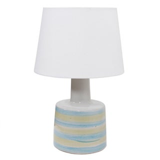 Martz Blue & Yellow Striped Lamp