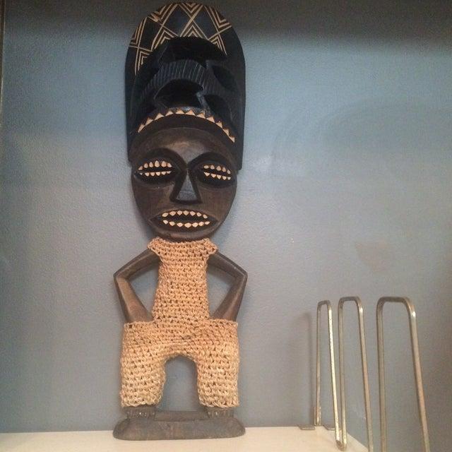 Image of Mid-Century Carved Wood Figure