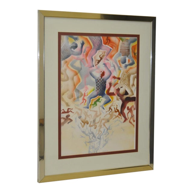 Mid-Century Modern Airbrush Painting by McBride - Image 1 of 11