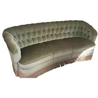 1940s Mohair Fringe Couch & Chairs