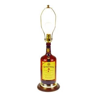 Vintage Seagram's 7 Whisky Bottle Table Lamp