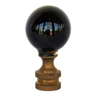 Black Glass Ball Glass Lamp Finial