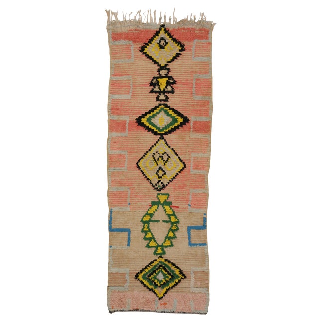 Vintage Moroccan Berber Tribal Design Runner - 3'8 x 8' - Image 1 of 7
