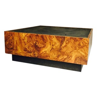 Vintage Burl Wood Floating Coffee Table