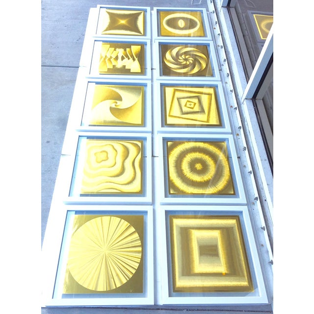 French Metallic Style Abstract Prints - 10 - Image 4 of 9