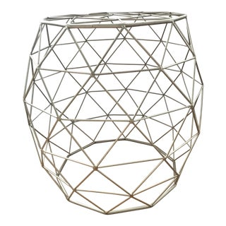 Bronze Geometric Side Table