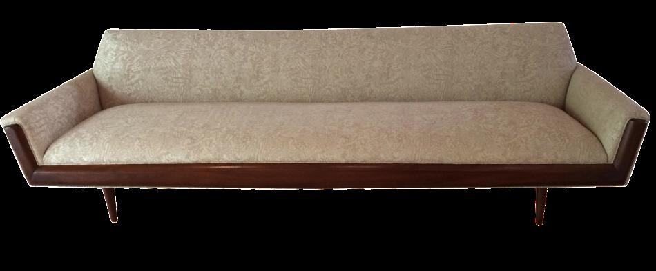mid century bench seat sofa chairish