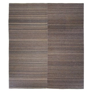 "Neutral Stripe Turkish Kilim - 9'8"" x 10'10"""