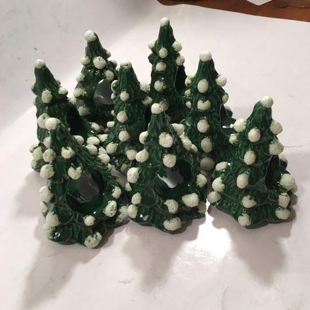 Vintage Christmas Tree Napkin Rings - Set of 8 - Image 5 of 8