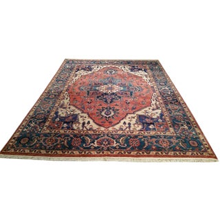 Traditional Wool Hand Made Knotted Rug - 9x12