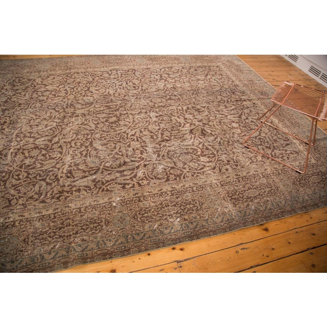 "Distressed Vintage Oushak Carpet - 8'8"" x 11'8"" - Image 6 of 7"