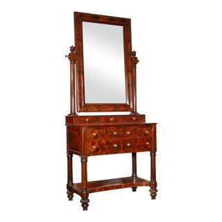 Figured Mahogany Classical Dressing Mirror