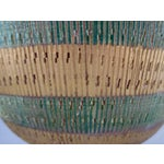 Image of Bisotti Italian Green & Gold Footed Pottery Bowl