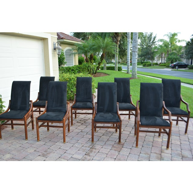 henredon walnut dining room chairs set of 8 chairish