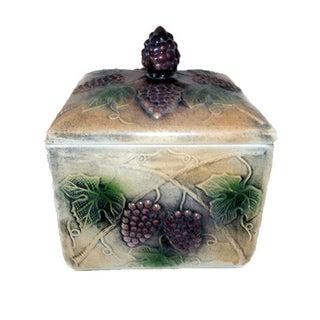 Grape Ceramic Lidded Jar