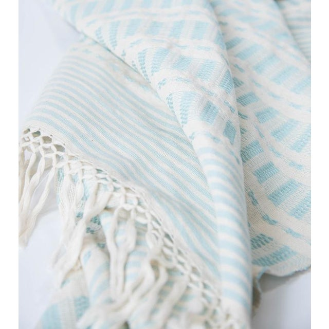 Serenity Blue Handwoven Mexican Throw - Image 7 of 7