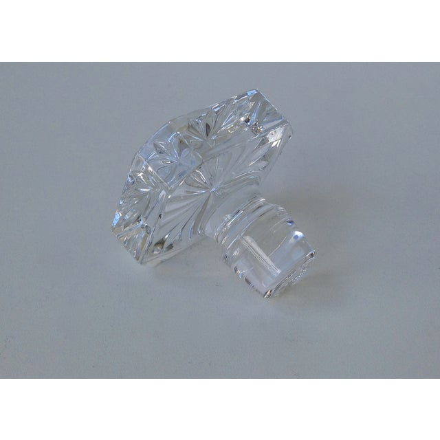 Image of Glass Square Cut Beveled Decanter Top