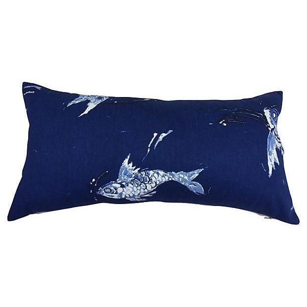 Ralph Lauren Indigo Koi Fish Pillows - A Pair - Image 3 of 7