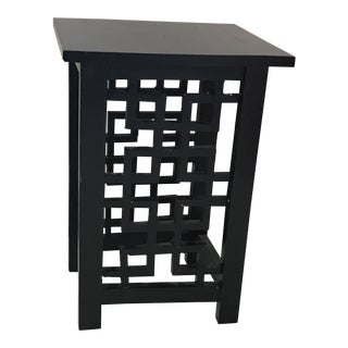 Black Wood Asian Accent Table