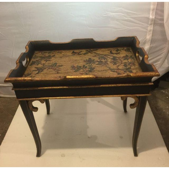 Small Traditional Tray Table - Image 2 of 5
