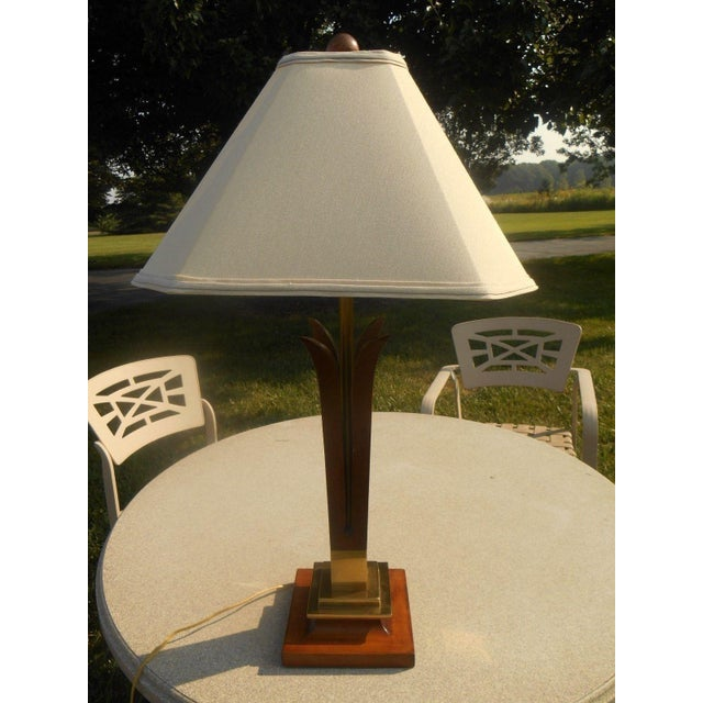 MCM Frederick Cooper Walnut Table Lamp - Image 2 of 5