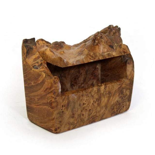 Image of Small Brutalist Burl Wood Box