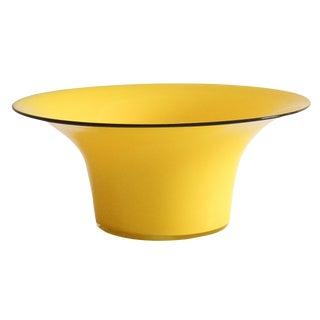 1920's Yellow Glass Bowl