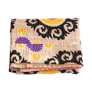 Boho Chic Suzani Throw Blanket