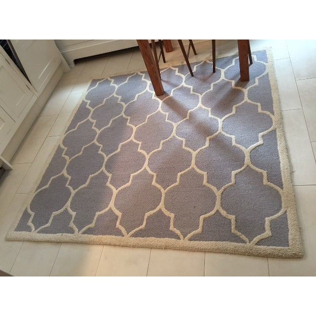 Carly Silver & Ivory Contemporary Rug - 6′ × 6′ - Image 3 of 3