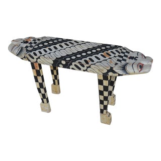 Folk Two-Headed Cat Print Table