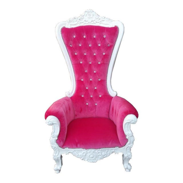 French Glam Tall Wedding Chair - Image 1 of 3