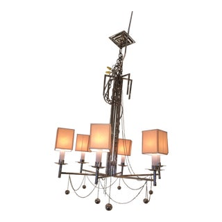 New! Visual Comfort John Rosselli Millo Nickel Chandelier