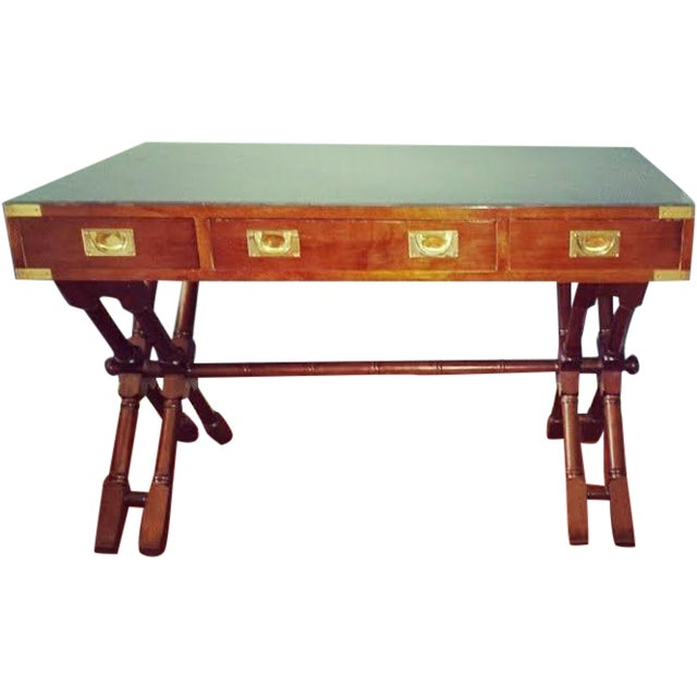 Mid-Century X Base Campaign Desk - Image 1 of 7