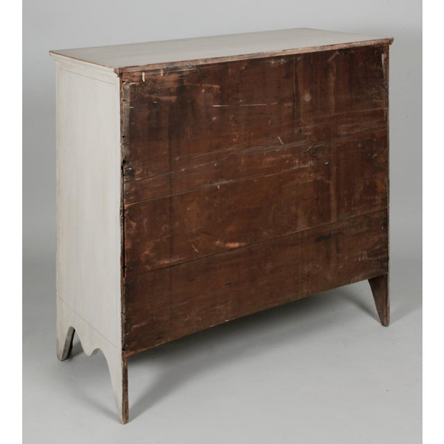 Antique American Country Hepplewhite Painted Chest of Drawers - Image 6 of 7