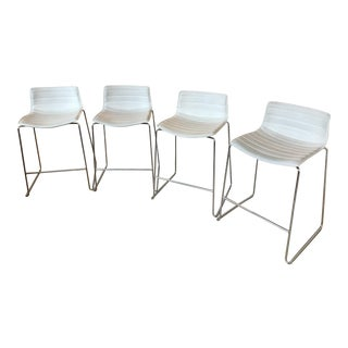 Arper Catifa 46 Sled Low Back Counter Stools - Set of 4