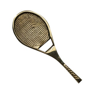 Brass Tennis Racket Bottle Opener
