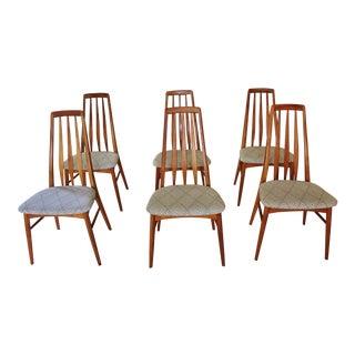 Niels Koefoed Danish Modern Teak Eva Dining Chairs - Set of 6