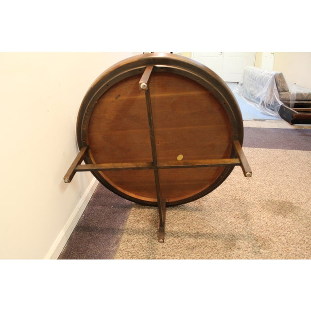 Mid-Century Modern Baker Round Flared Coffee Table - Image 6 of 11