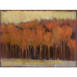 Tree Line/October, 2015, Pastel on paper by Kathleen Dunn.