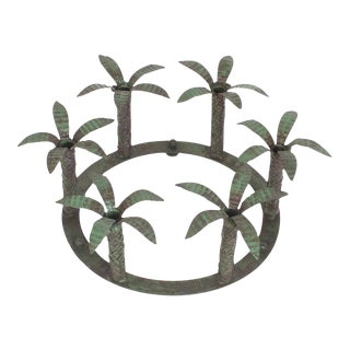 Vintage Six-Light Palm Tree Candleholder or Candelabra