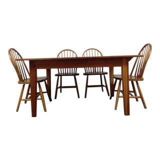 Jefferson Wood Working Co. Carved Oak Dining Set