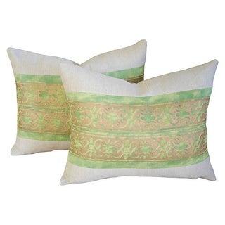 Custom Italian Fortuny Pillows - A Pair
