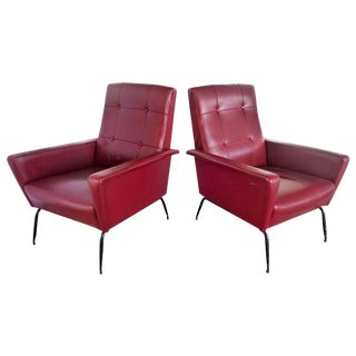 1950s Italian Gio Ponti Inspired Lounge Chairs - A Pair