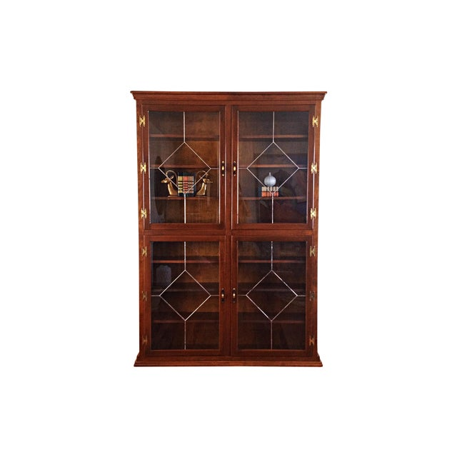 Vintage 1960s Custom Enclosed Bookcase - Image 1 of 6
