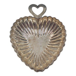 Silver Plated Heart Dish by Godinger