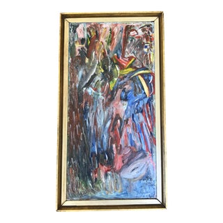 1959 Abstract Oil on Canvas Painting