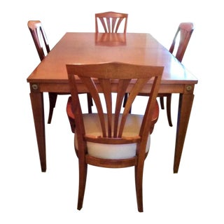 Ethan Allen Dining Table With 4 Chairs