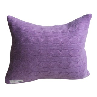 Orchid Cashmere Throw Pillow
